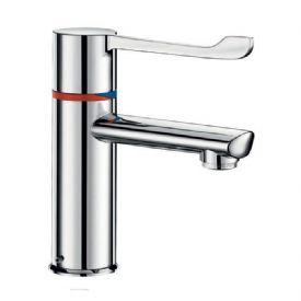 Delabie H9600610 SECURITHERM Seq Thermostatic Deck-Mounted 146mm Lever Basin Mixer - Copper Tail